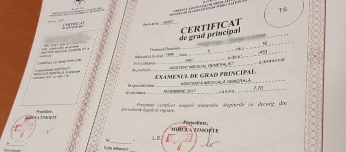 IAŞI:. Ridicaţi-vă certificatele de grad principal!
