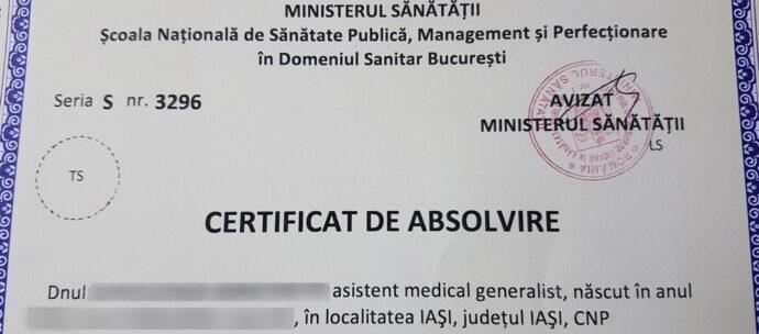 IAŞI:. Au sosit certificatele pentru a doua specializare 2017