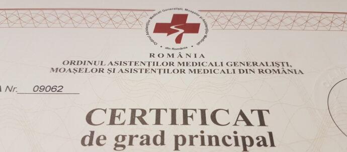 IAŞI:. Certificatele de grad principal 2018