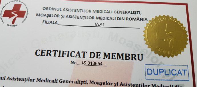 Duplicatele pentru certificatele de membru, gratuite